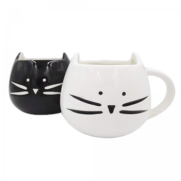 Set of 2 cat mugs